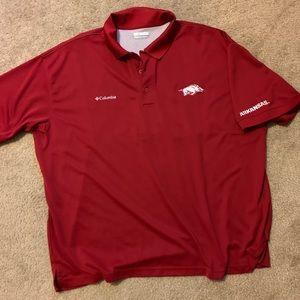Red Razorback Columbia dress shirt